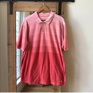 Tommy Bahama Pink Ombré Striped Polo Shirt